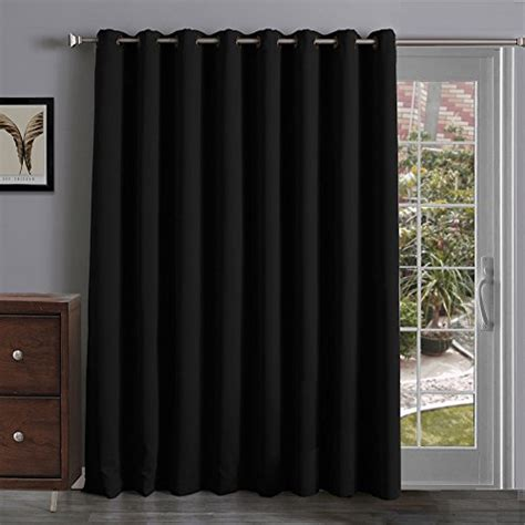 thermal insulated blackout curtains panel sliding glass