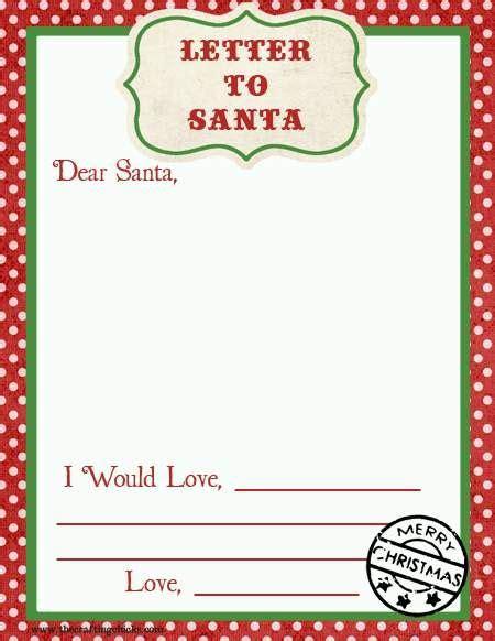 blank letters  santa letter  santa templates
