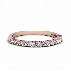 Rose Gold Wedding Bands For Women Fascinating Diamonds