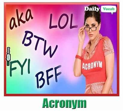 Acronym Meaning Hindi Words Sunny Meme Dailyvocab