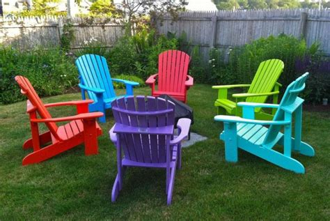 bright colored adirondack chairs home furniture design