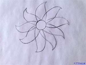 Drawing Tutorial How To Draw Simple Flower Sketch For Kids