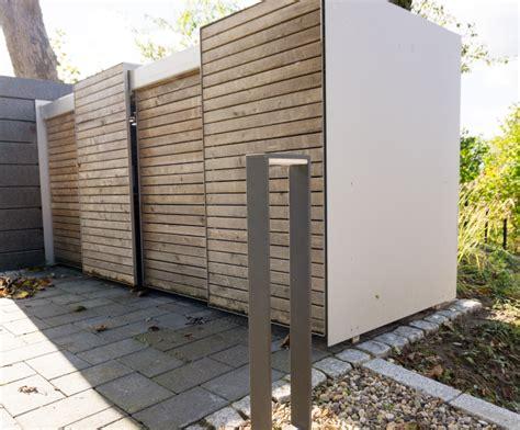 Unsere Moderne Mülltonnenbox Im Garten Familiethimmde
