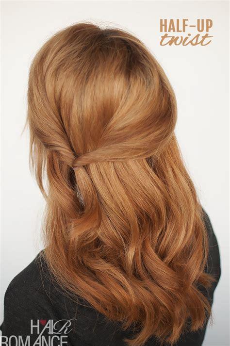 easy twist styles for hair half up twist hairstyle tutorial hair 8131