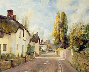 Village Street Scene Painting by Charles James Fox