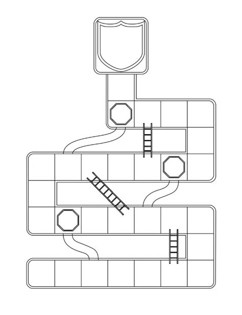 Chutes And Ladders Template by Ctr Shoots And Ladders Black And White Printable