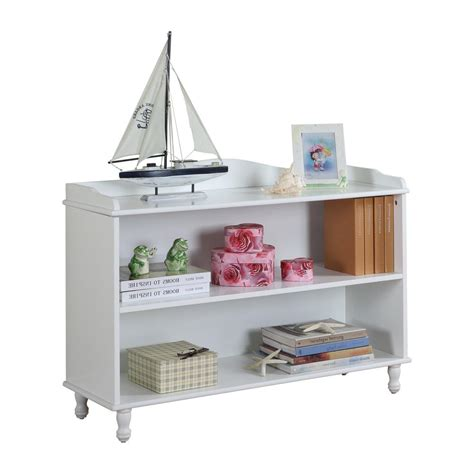 Childrens White Bookcase by White Wood Children S 2 Tier Bookcase 5101r The Home Depot