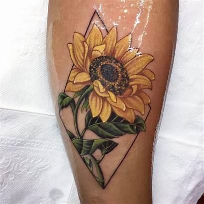 Sunflower Tattoo Tattoos Designs Butterfly Flowers Yellow