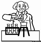 Scientist Coloring Pages Science Drawing Professions Famous Being Occupations Getdrawings sketch template