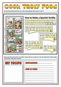 Cook Tasty Food - Recipes And Imperatives Worksheet