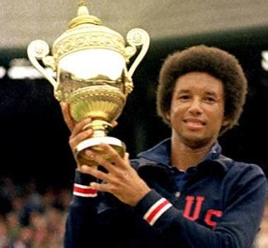 Image result for Arthur Ashe became the first black man to win a Wimbledon singles title when he defeated Jimmy Connors.