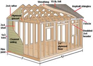 8x6 Storage Shed Plans by How To Build A Gable Shed Or Playhouse