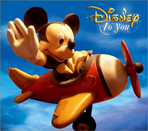 disney store big figure mickey mouse  airplane