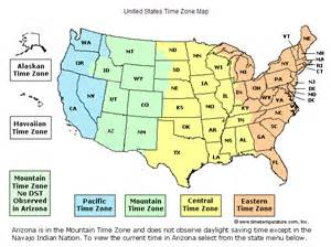 USA Time Zones Map