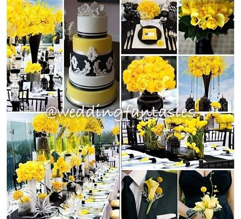 black yellow weddingsreception images