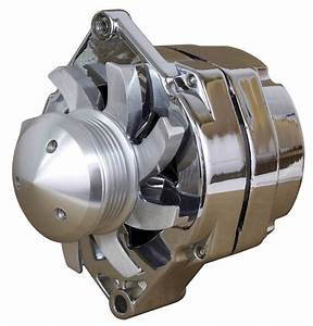 New Chrome 110a Billet Style Chrome 1 Wire Alternator 6