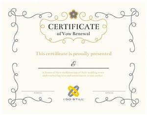free printable ornate certificate of vow renewal i do still With vow renewal certificate template