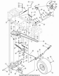 Troy Bilt Horse Xp Drive Belt Diagram