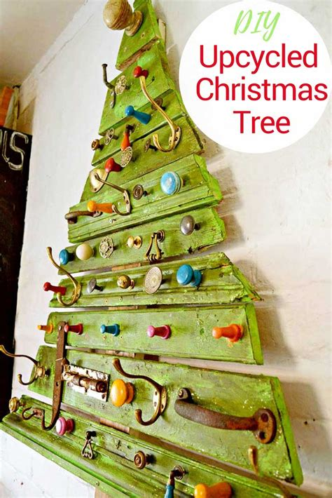 who to make a christmas tree from old tires unique diy wooden tree with knobs on pillar box blue