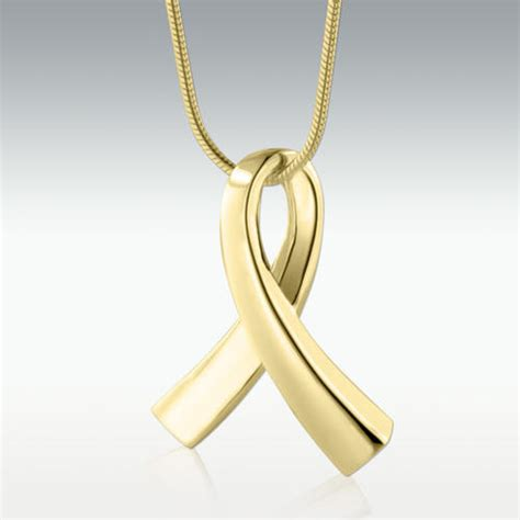 ribbon solid  gold cremation jewelry engravable