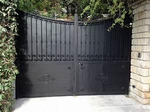 Portail En Fer Lapeyre : portail fer forg sur mesure portillon int gr mod le ~ Premium-room.com Idées de Décoration
