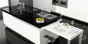 Plan De Travail Ilot : cuisine plan de travail en lot de cuisine moderne fonc ~ Premium-room.com Idées de Décoration