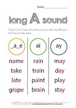 long vowel sounds worksheets  lulu learning lab tpt
