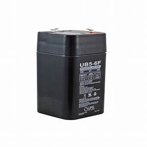 6 Volt 5 Ah Sealed Lead Acid Rechargeable Battery With F1