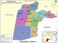Kandahar Map, Map of Kandahar Province Velayat, Afghanistan