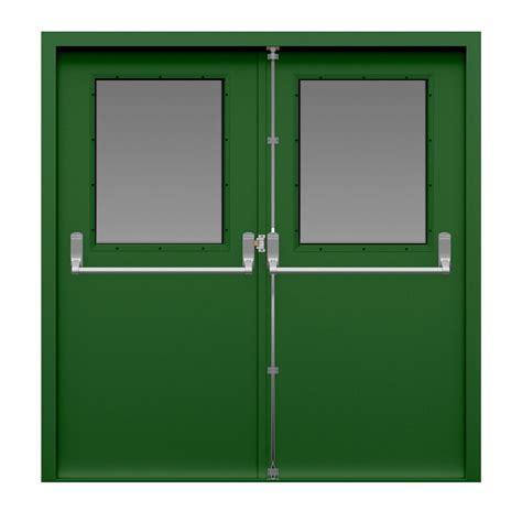 glazed double fire exit door latham 39 s steel doors