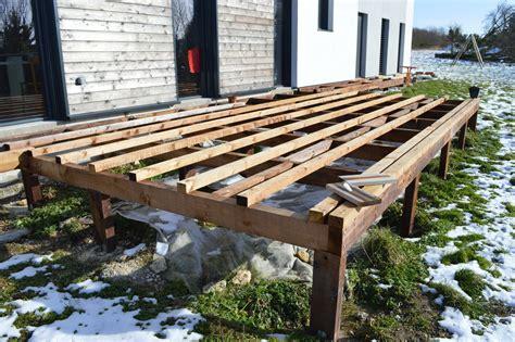 faire terrasse bois sur pilotis veranda styledeviefr