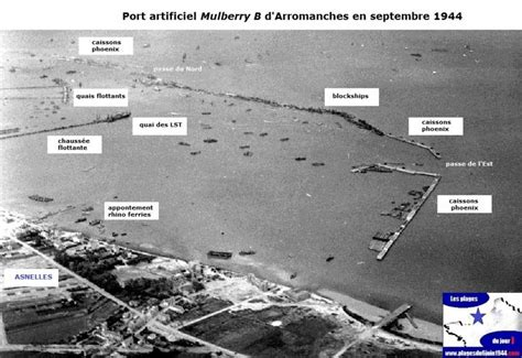le port artificiel d arromanches sur gold