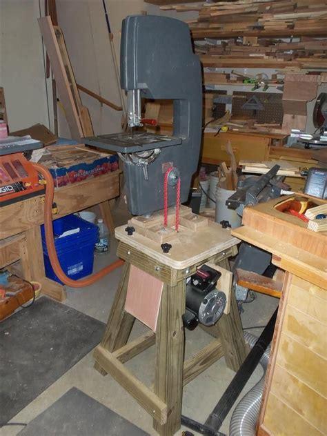 shopsmith bandsaw shop built power stand workshop