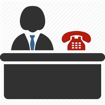 Office Receptionist Icon Desk Reception Lobby Clerk