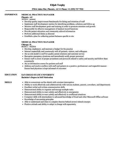 Medical Practice Manager Resume - Free Resume Templates
