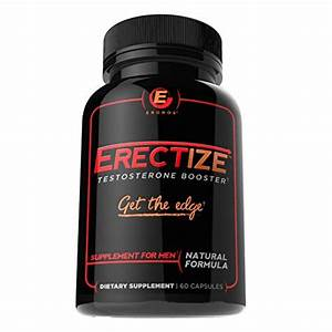 Erectize Testosterone Booster Pills For Men  Get The Edge  Male Formula Testosterone Booster