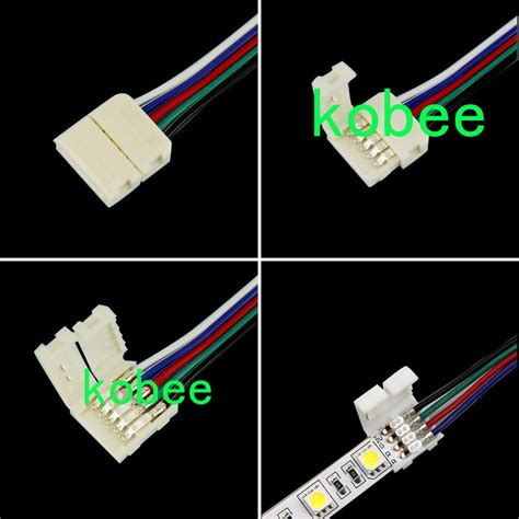Pin Rgb Rgbw Connectors With Cable For