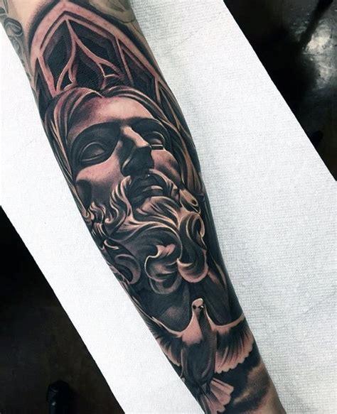 jesus forearm tattoo designs  men christ ink ideas
