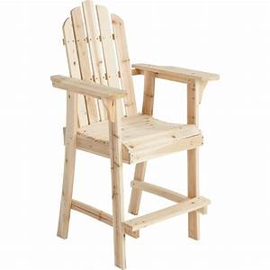 Stonegate Designs Tall Wooden Adirondack Chair — 30in L x