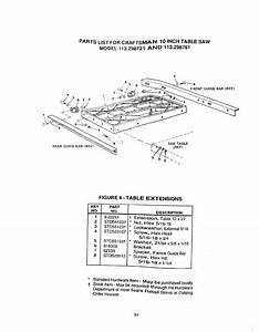 Page 51 Of Craftsman Saw 113 298721  113 298761 User Guide