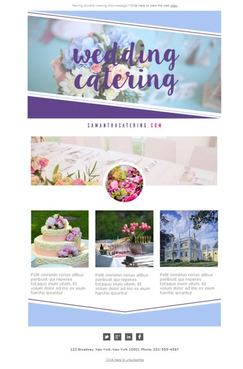 catering email template free email templates design catering wedding