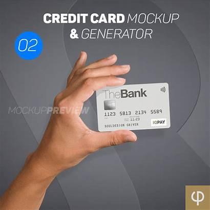 Card Mockup Generator Credit Psd Mockups Templatefor