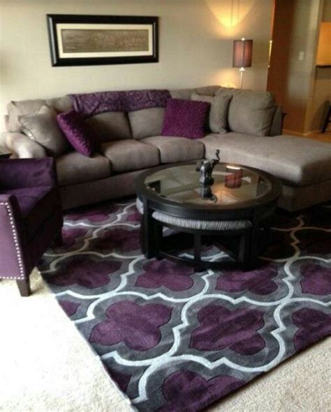 Grey And Purple Living Room by I Want This Rug Living Room Rugs