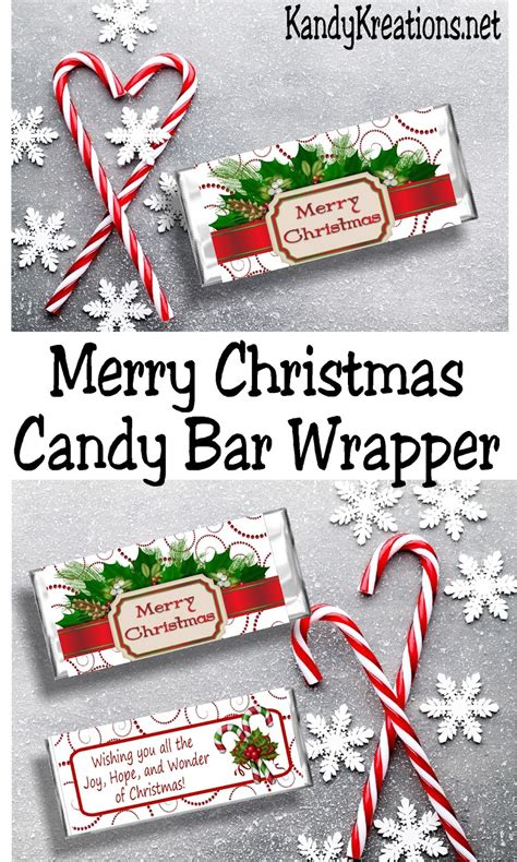 Print, cut and wrap around a hershey bar for a perfect gift for teachers, friends and family or dinner party favors. Merry Christmas Printable Candy Bar Wrapper | DIY Party Mom