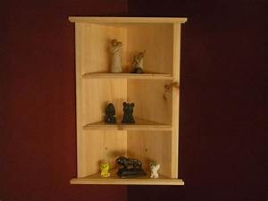 Wall hanging corner shelf