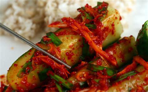 kimchi recipe authentic korean cucumber kimchi recipe