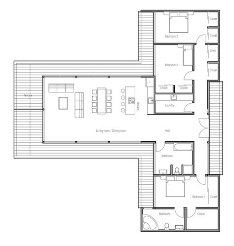 modern floorplans modern contemporary house plan with three bedrooms and