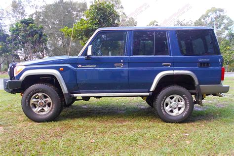 The toyota landcruiser 70 ute stands out with its rugged design and power. Toyota Landcruiser 76 Series Wagon Blue 51199 | Superior ...