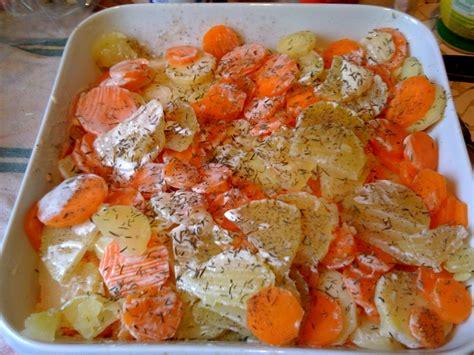 gratin facile de pommes de terre et carottes 3 5pp pers