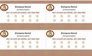 Punch card template punch card template free for Free punch cards template
